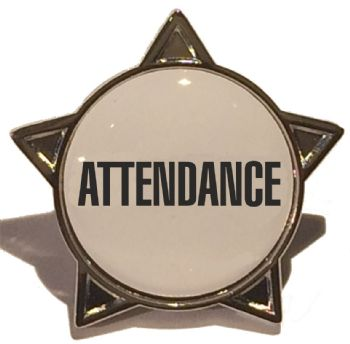 ATTENDANCE star badge